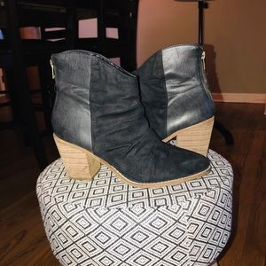 Altar'd State Black Suede Booties
